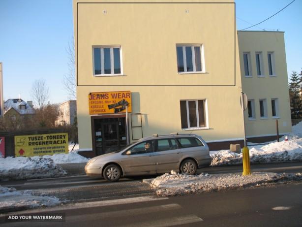 Reklama na budynku Cierlicka 15 Warszawa